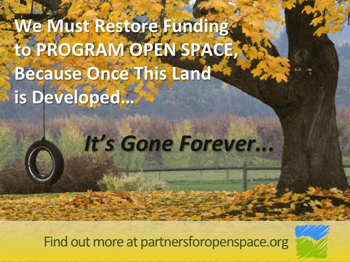 Program Open Space funding